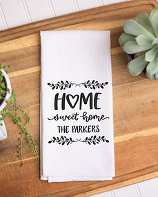 Personalized Home Sweet Home Towel