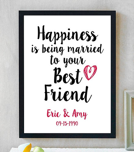 Married To My Best Friend Anniversary Print