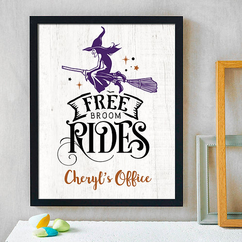 comical witch halloween decor