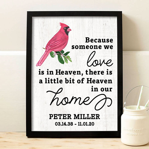 personalized  in memory of print for loved ones