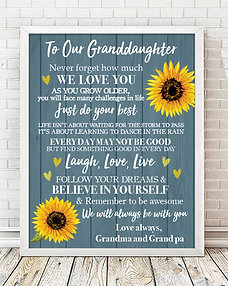 To My Granddaughter Personalized Print