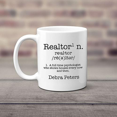 realtor define coffee mug