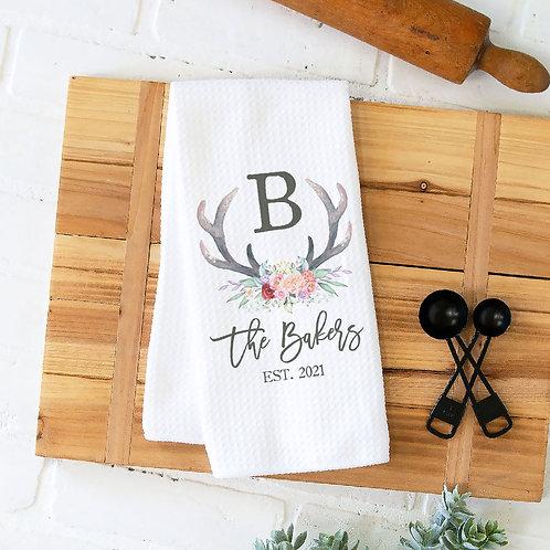 Monogram antler towel