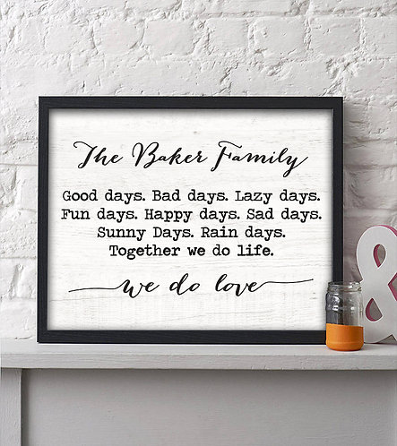 We do love personalized family print
