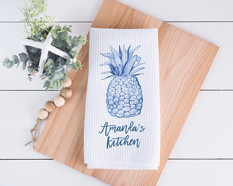 Blue pineapple towel