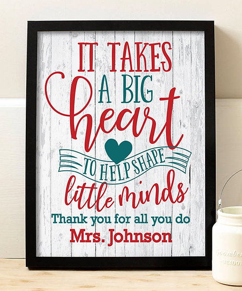 Teacher Big Heart Print