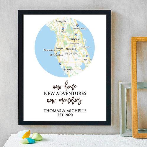 map housewarming print