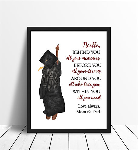personalized message print for graduation