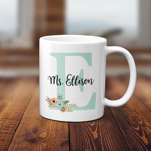 Monogram Teacher Mug Gift