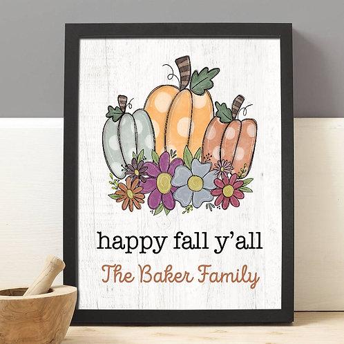 rustic pumpkin print