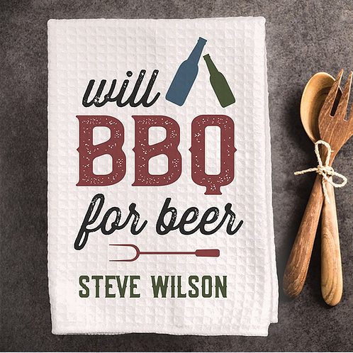 BBQ for beer grilling towel