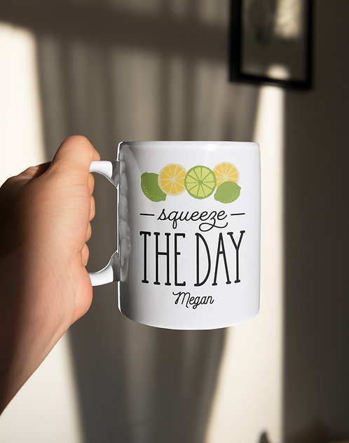 Personalized Squeeze The Day Mug