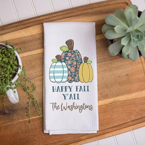 Happy Fall Y'all Towel