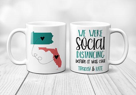 Comical social distancing mug