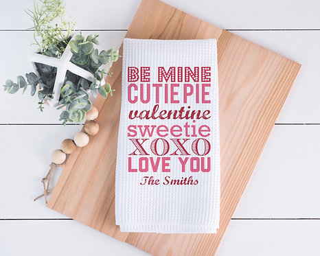 Valentines Day Personalized Dish Towel