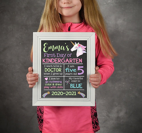 chalkboard first day of school photo prop