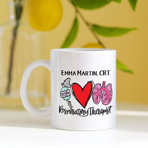 Personalized Respiratory Therapist Mug