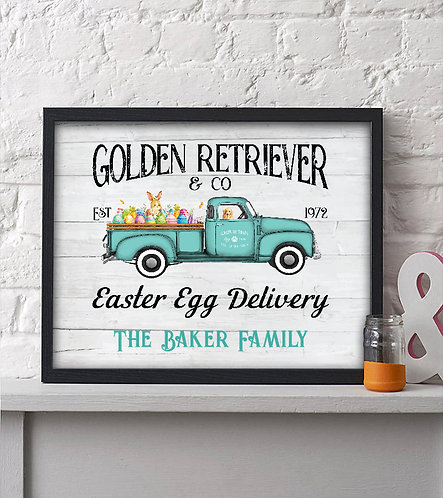 personalized rustic easter print