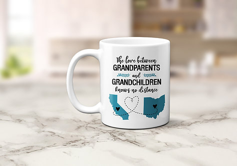 personalized two state grandparents coffee mug