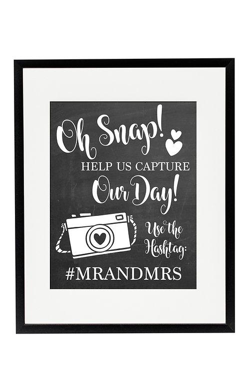 chalkboard social media wedding print