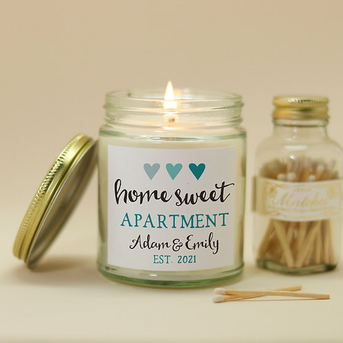 Home sweet apartment candle