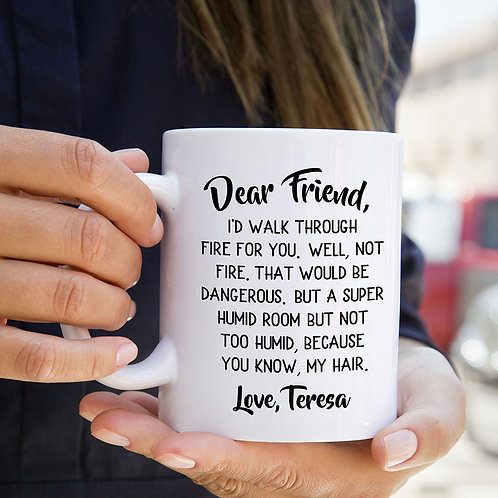 personalized funny letter to friend