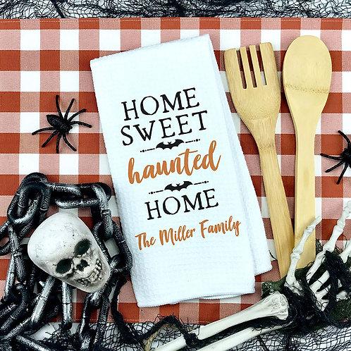 Haunted Home Halloween Towel