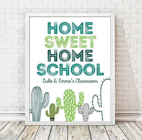 cactus home sweet homeschool print