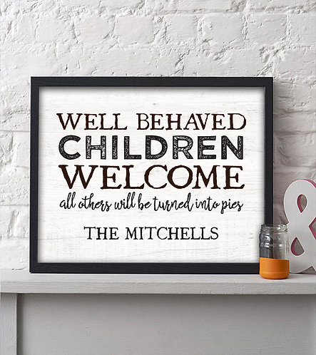 Well Behaved Children are Welcomed, Halloween Comical Prints