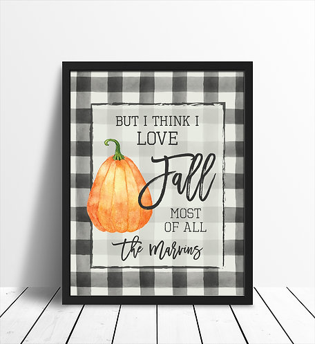 I love Fall, Fall Prints for the home