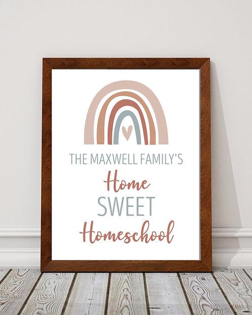 pastel rainbow homeschool print