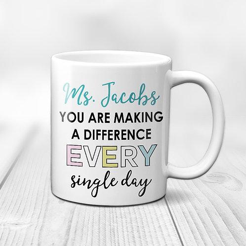Make a Difference Teacher Mug
