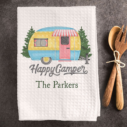 colorful rv camping towel