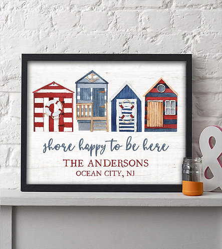 personalized shore happy to be here print
