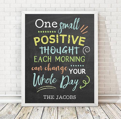 colorful inspirational motivation print