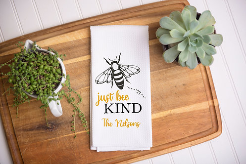 Bee Kind Personalized Towel