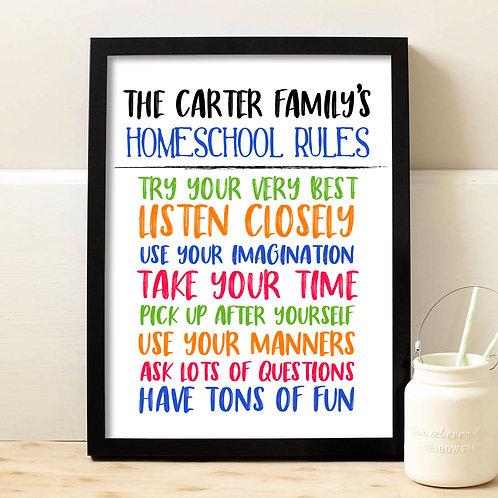 colorful homeschool art print