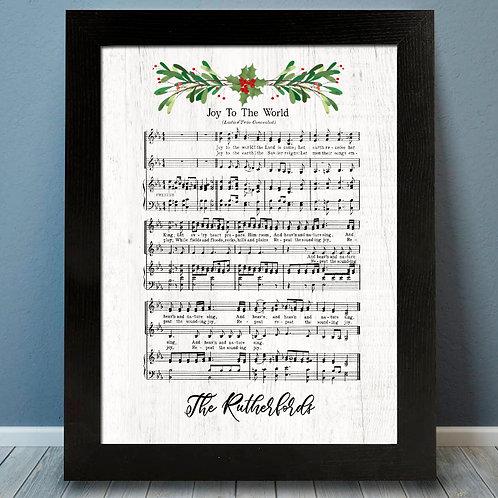 joy to the world sheet music christmas decor