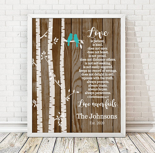 wooden background with tree bible verse print