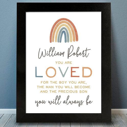 personalized pastel rainbow print