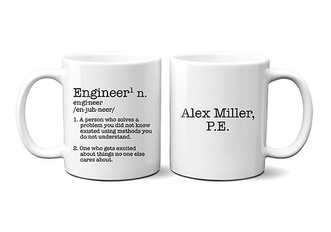 comical engineer defined cup