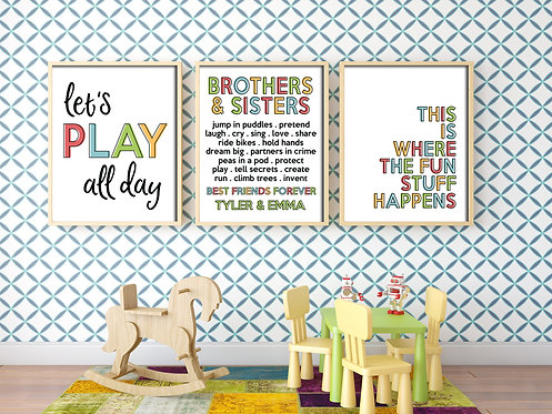 modern brothers and sisters collage for shared spaces