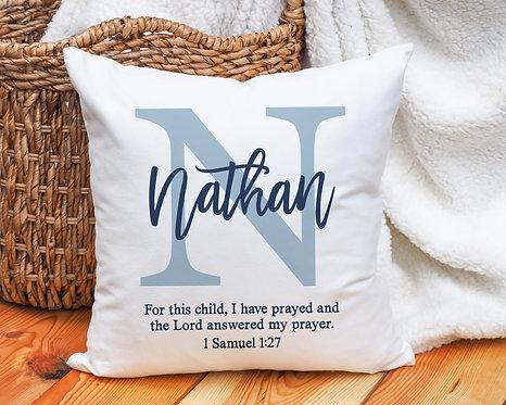 Monogram Bible Verse Pillow