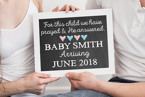 For This Child We Have Prayed Pregnancy Announcement