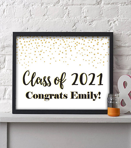 graduation party sign for the graduate
