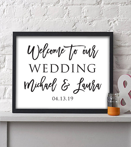 Personalized Welcome To Our Wedding Print