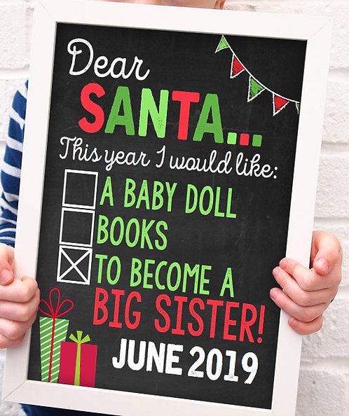 Santa Baby Announcement