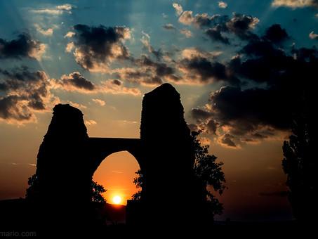 sunrise on roman ruin