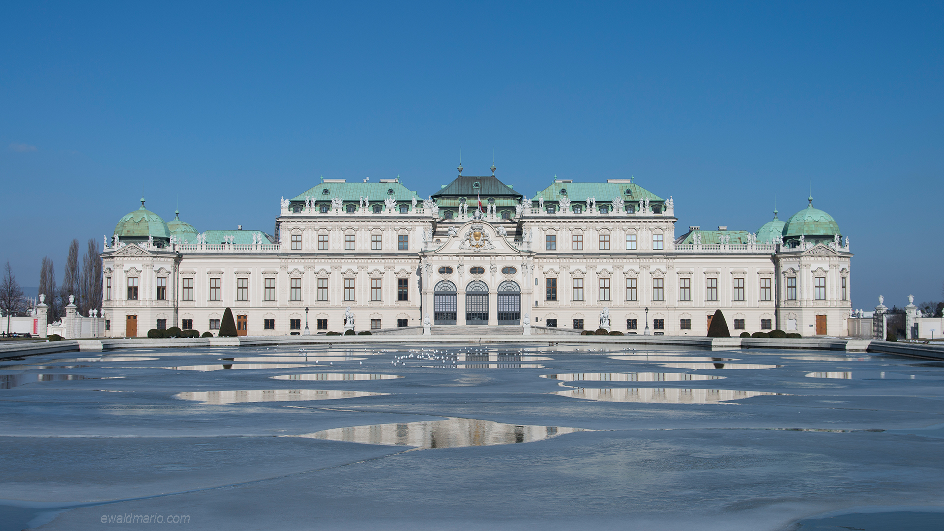 belvedere im winter