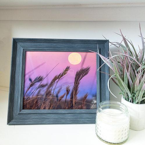"""Full moon framed print 8x10"""""""